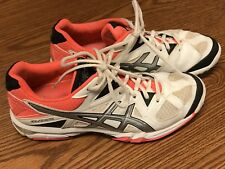 Asics B554N Gel-Tastic White Pink Black Volleyball Shoes Women's Size 9