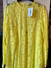 ASOS Tall yellow lacey maxi dress Size 14