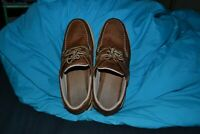 USED LL Bean Men's casual tan leather shoes 11 Medium campside moccasin