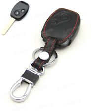 Leather Case Cover Holder For Honda Civic Accord CRV Pilot 2 Buttons Remote Key