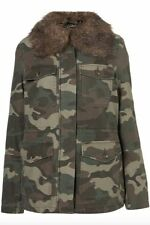 Faux Fur Camouflage Casual Coats & Jackets for Women