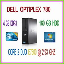 DEL COMPUTER INTEL CORE 2 DUO  2.93 GHZ 4GB DDR3 160GB DVDRW WINDOWS 7 PRO 64