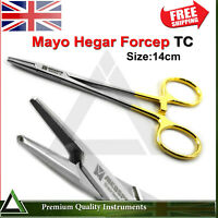 Mayo Hegar Needle Holder Surgical Artery Locking Clamp Forceps Tungsten Carbide