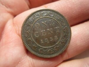 1858 CANADA ONE 1 CENT