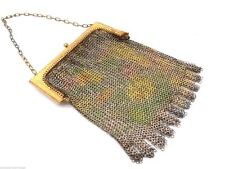 Whiting & Davis Mesh Bag Vintage Purse Lot Early Teens-1920s Beads France Silver