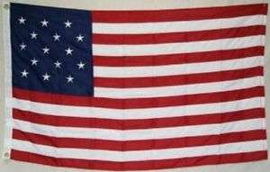 4x6 Embroidered Sewn Star Spangled Banner 15 Stars 600D Nylon Flag 4'x6'