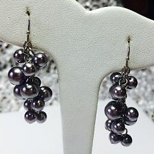 CHICO'S FAUX GRAY PEARL CLUSTER DANGLE EARRINGS ~ CHICO'S GREY CORRINE PEARLS