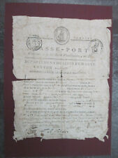 1797 French Revolution Passeport Passport Francois Moroy Republique Francaise