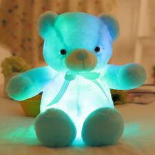 Light Up LED Teddy Bear Doll Stuffed Animals Plush Soft Kids Toy Gift USA