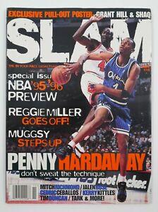Nov. 1995 Slam NBA Pro Basketball Magazine #8 Penny Hardaway Jordan Cover