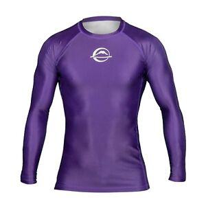 Fuji Sports Baseline IBJJF Ranked BJJ Jiu Jitsu Long Sleeve LS Rashguard  Purple