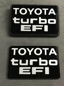 Toyota Hilux Turbo Pickup 1985 1986 1987 1988 1989 b pillar plate badges emblem