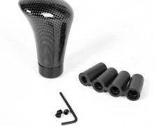 100% Real Carbon Fiber Black Universal Manual Car Gear Stick Shift Knob Shifter