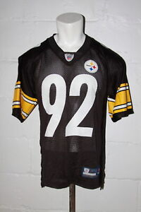 EUC Reebok Pittsburgh Steelers James Harrison Black NFL Football Jersey Sz S