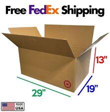 29x19x13 Large Corrugated Cardboard Moving Boxes 5pk Free Shipping