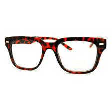 Tortoise Square Eyeglasses Optical Frame Clear Lens Fashion Glasses