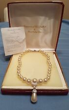 """Kenneth Jay Lane Treasure Of The Duchess Of Windsor 18"""" Pearl Necklace"""