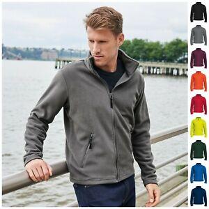 Mens Microfleece Fleece Jacket Coat Long Sleeve Full Zip Leisure Work