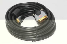 Labgear 10m Dual Link Premium Gold Plated OFC HDMI to DVI-D Cable 1080i 24K gold