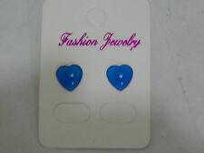 Chelsea Blue Love Heart Earrings Stud fixig
