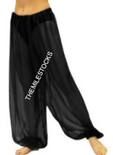 TMS BLACK Chiffon Harem Yoga Pant Belly Dance Costume Tribal Club PANTALON CH