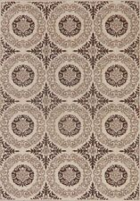 Beige Art & Craft Modern Area Rug Contemporary All-Over Turkish Carpet 5x7