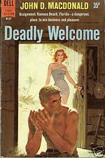 VINTAGE PAPERBACK Dell B127 Deadly Welcome JD MACDONALD