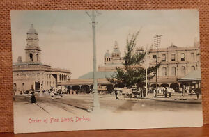 Old Street Scene Postcard - Durban Colony of Natal now South Africa