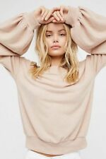 Free People FP Beach Super Soft Pullover Top Almond Size Large L NWT NEW