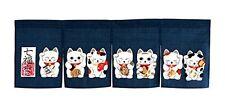 JAPANESE Noren Curtain NEW NEKO CAT 85 x 30cm MADE IN JAPAN Navy