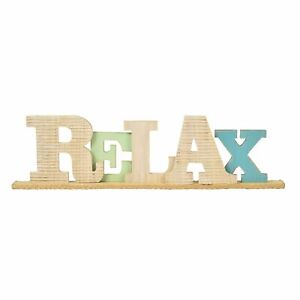 Department 56 Coast to Coast Beach Relax Typography Wood Table Decor Sign