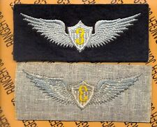 """US Army Aviation Flight School Student pilot wing 5 inch """"3"""" patch"""