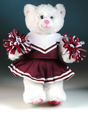 "New Teddy Bear cheerleading clothes burgandy fits 14""-18"" bear"