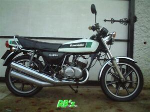 Kawasaki KH250 B4 Triple Decal Set - White Bike  - THE BEST