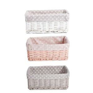 Wickerfield  Wicker Storage Baskets with Removable Lining Gift Hampers