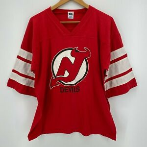 Trench T-Shirt Men's XL Red New Jersey Devils Vintage 1988 NHL Hockey