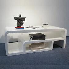 Coffee Table Modern White High Gloss Rastic Storage Tier Sturdy Smart Step