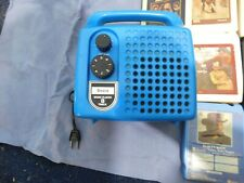Vintage 70S Sears Blue Portable 8-Track Player W/10 TAPES