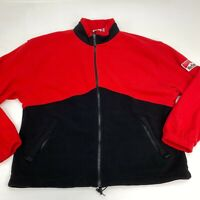 Unlimited Marlboro Fleece Zip Up Jacket Mens 2XL Long Sleeve Red Black Polyester