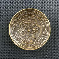 Chinese bronze  writing-brush washer dragon Phoenix  bowl plate
