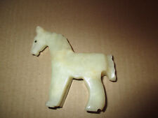 VINTAGE WHITE ONYX HORSE CARVED & POLISHED MEXICO