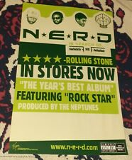 2002 N.e.r.d Promo Vintage Poster Rap Bape Golf Wang supreme Ice Cream Pharrell