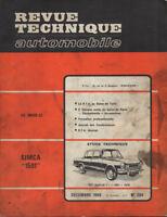 RTA revue technique l'expert automobile n ° 284 SIMCA 1501 special