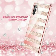 Samsung Galaxy Note 10 Plus Glitter Case Luxury Shiny Diamond Rhinestone Pink