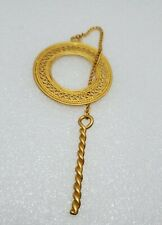 Clip in a brushed Gold w filigree Vintage Unique Sweater Loop & Goggle Holder