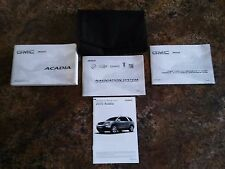 2010 GMC Acadia Owners Manual w/ Navigation Manual & Case w/ Supplements -#B  #G