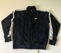 Vtg Nike Full Zip w/pockets Light Warm up Jacket Navy Blue Mens Size XL RN 56323