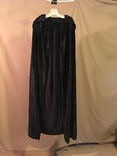 Preowned BlackCrushed Velvet Hooded Cloak Cape Costume Accessory 1 Size Fits All