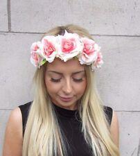 Rose chair crème fleur bandeau FESTIVAL Cheveux Couronne GUIRLANDE BOHO 3146
