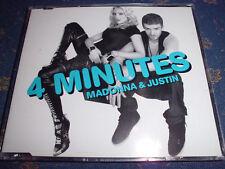 MADONNA & JUSTIN (TIMBERLAKE) feat. Timbaland 4 Minutes Pop Maxi CD 3 Tracks TOP